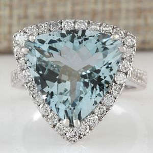 Jewelry - 💎 Stunning Aquamarine Ring NEW 925 Silver